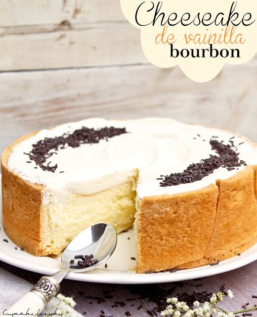 Tarta de queso de vainilla / http://www.cupcakelosophy.com/