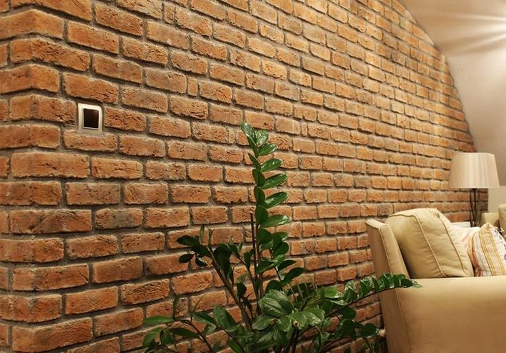 Lounge Feature Wall using Memphis Red Brick Slips