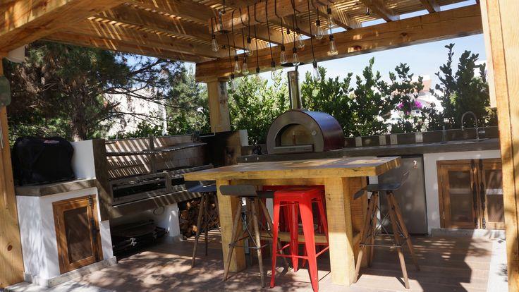 Quincho con horno de le a para cocina de exterior - Cocinas con horno de lena ...