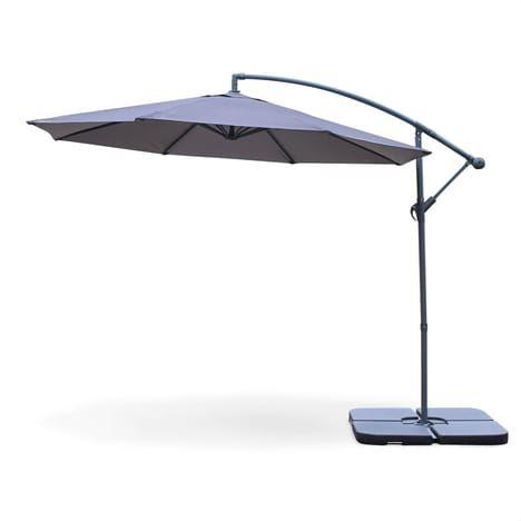 alices garden parasol deporte rond hardelot cm excentre gris baleines
