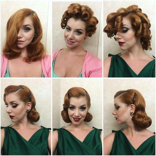 Best 25 pin up curls ideas on pinterest pin up hair vintage curls and retro hair - Pin up coiffure ...