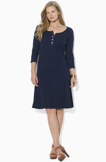 Lauren Ralph Lauren Henley A-Line Dress (Plus) available at Nordstrom