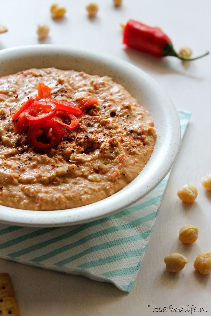 Het recept voor pittige hummus met gerookte paprika   It's a Food Life