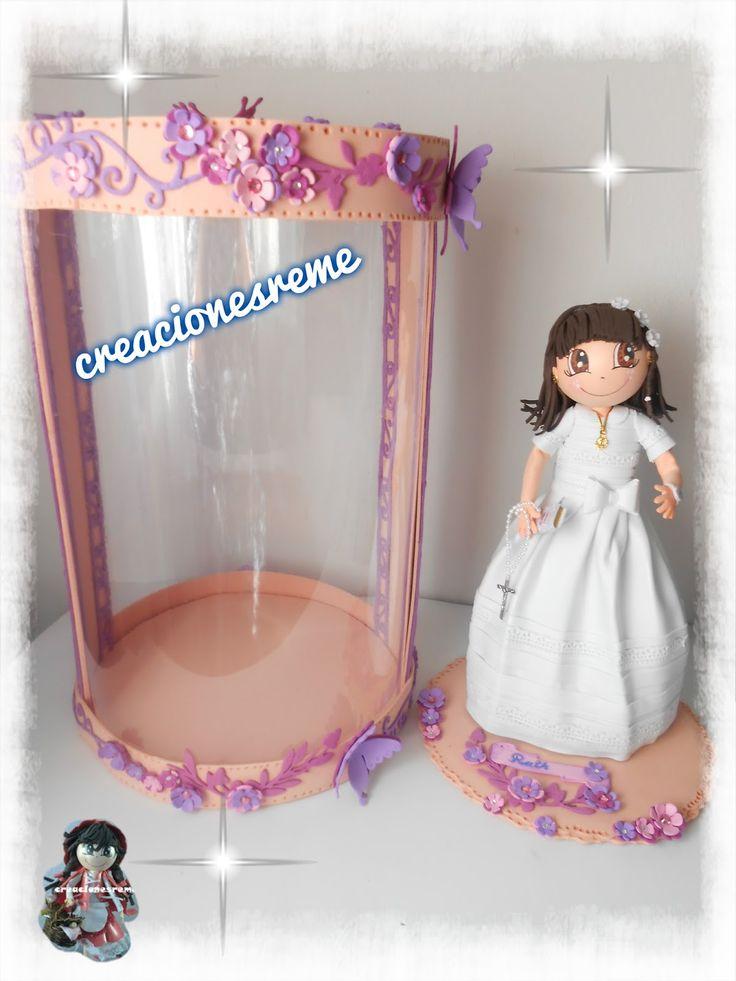 Muñequitas fofuchas de goma eva Creacionesreme caja de acetato para muñecas fofuchas de comunion