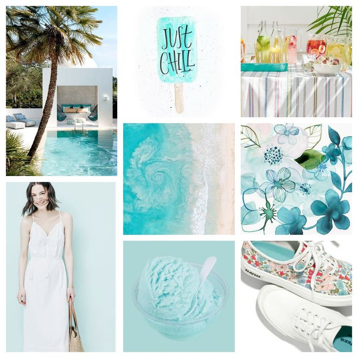 #moodboard #moodboards #inspiration #inspirationboard #colors #colorful #turquoise #color #summercolors #white #justchill #summer