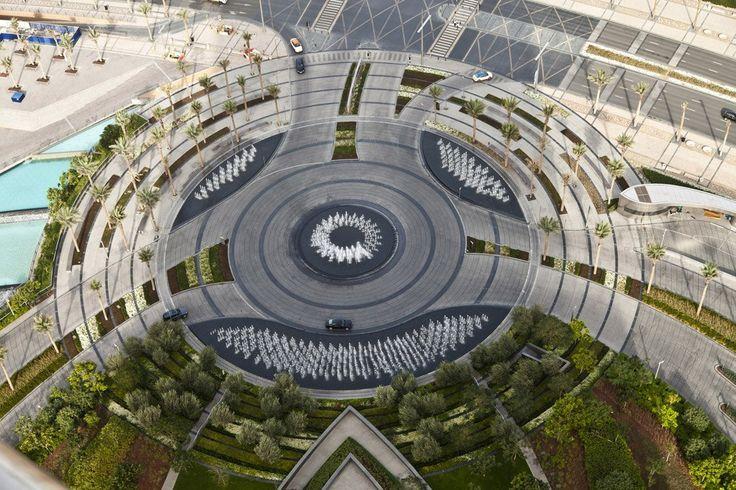 Paisagismo ao redor do Burj Khalifa, © Tom Fox