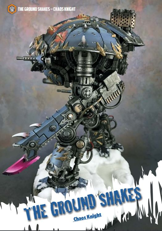 Warhammer 40000 Chaos Knight in the Golden D6 Issue 10.