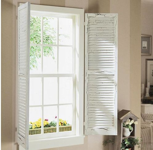 1000 images about window treatments on pinterest bay for Shutter window treatment ideas