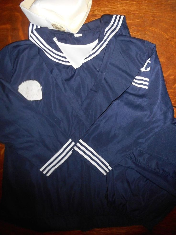 Mens Sailor Halloween Costume Adult Size OSFM Navy Blue