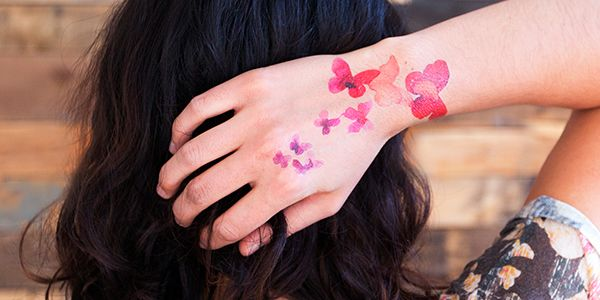 Coral Butterflies Fashionable Temporary Tattoos