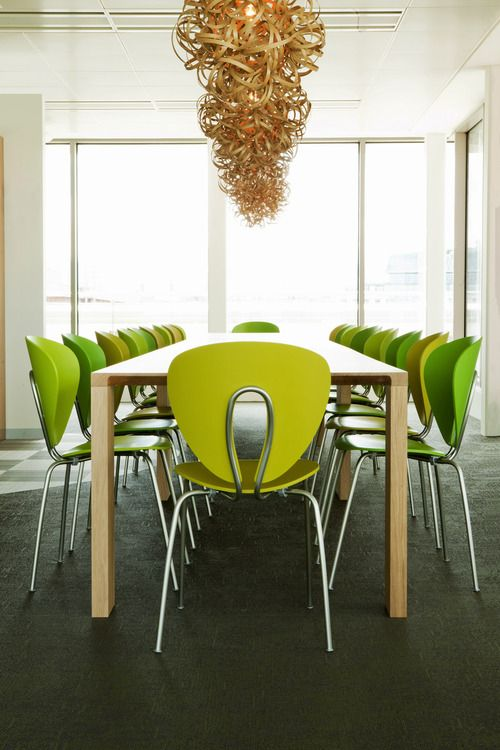 Publicis agency in Dublin with vibrant green Globus chairs fromSTUA.STUA Design Blog