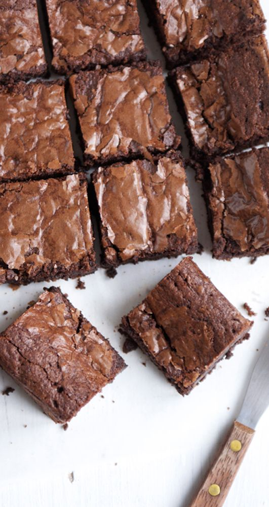Chocolate Brownies. The best recipe for the most decadent brownies…
