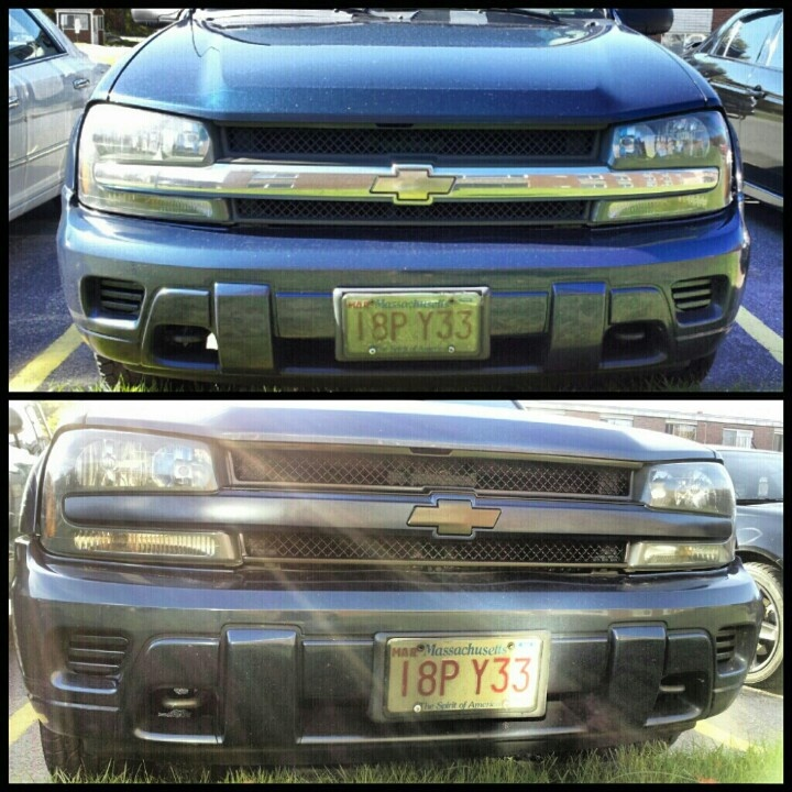#trailblazer #painted #grill #beforeandafter