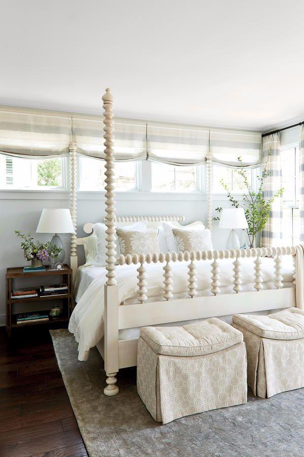 serene blue u0026 white bedroom southern living