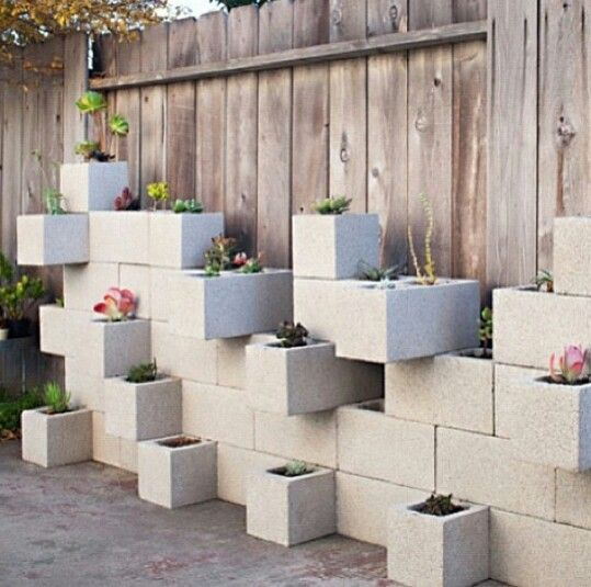 Great outdoor feature wall idea