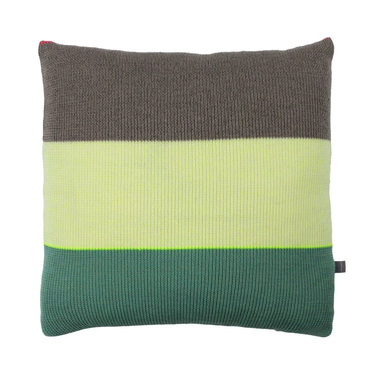Strictly Knit Cushion 2-002-007  Product materials: 95 % wool / 3 % viscose / 2% pl. Dimensions: 45x45 cm (18x18 inch).  Care: Clean or hand wash at 30c degrees (86f).