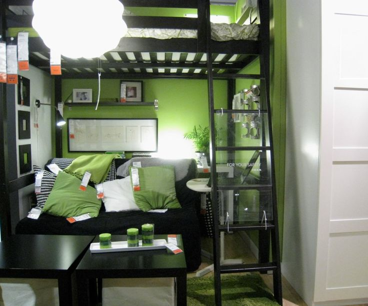 IKEA green loft bedroom & livingroom | muffett68 ☺☺ | Flickr