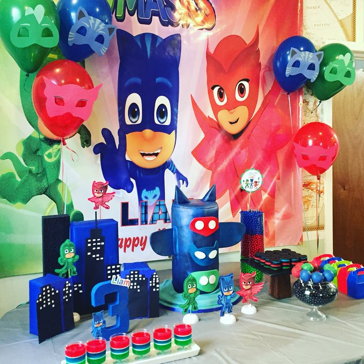 PJ Masks Birthday Theme Pinterest Birthdays