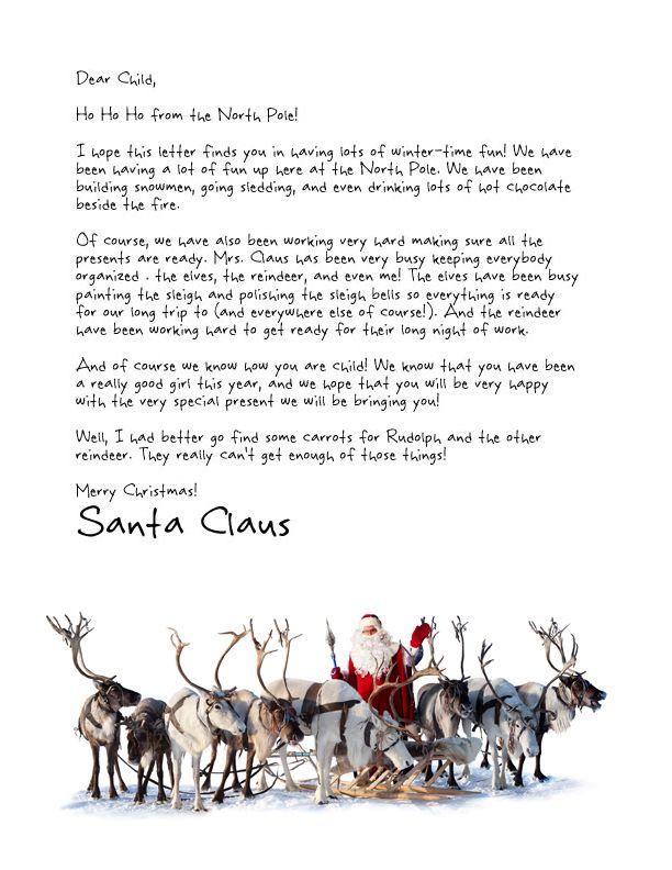 25 best Letter from santa ideas on Pinterest Letter explaining