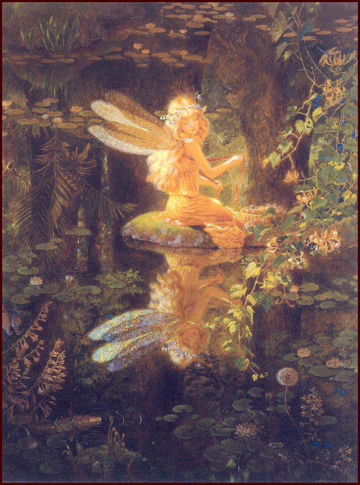 """Fairy Reflection,"""" a painting by Kinuko Craft. Description from pinterest.com. I searched for this on bing.com/images"""