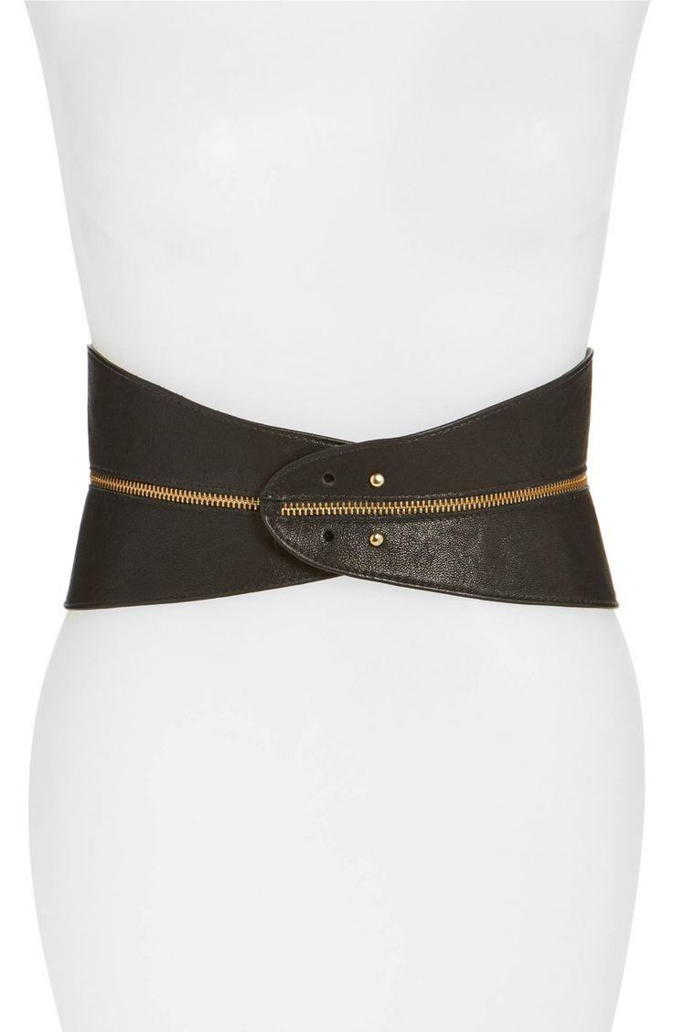 Main Image - Raina Leather Corset Belt