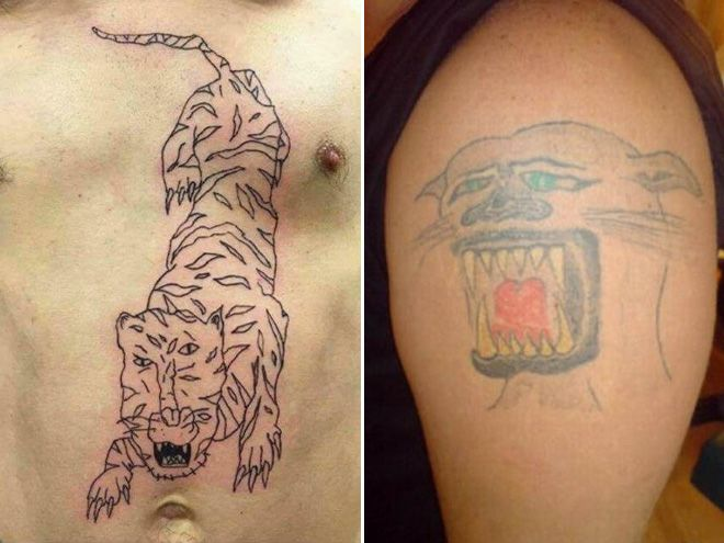 They Tried To Save Money On A Tattoo Bad Tattoos Terrible Tattoos Tattoo People