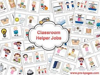 CLASSROOM HELPERS JOB KIT - TeachersPayTeachers.com