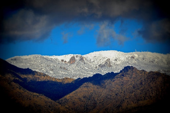 Snow Capped Santa Catalina Mountains of Tucson by jonvangilder, $175.00