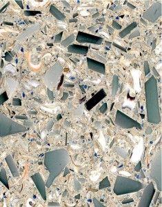 Sea glass and seashell countertop