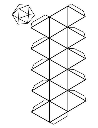 Material educativo para maestros: Plantillas para elaboras cuerpos geometricos