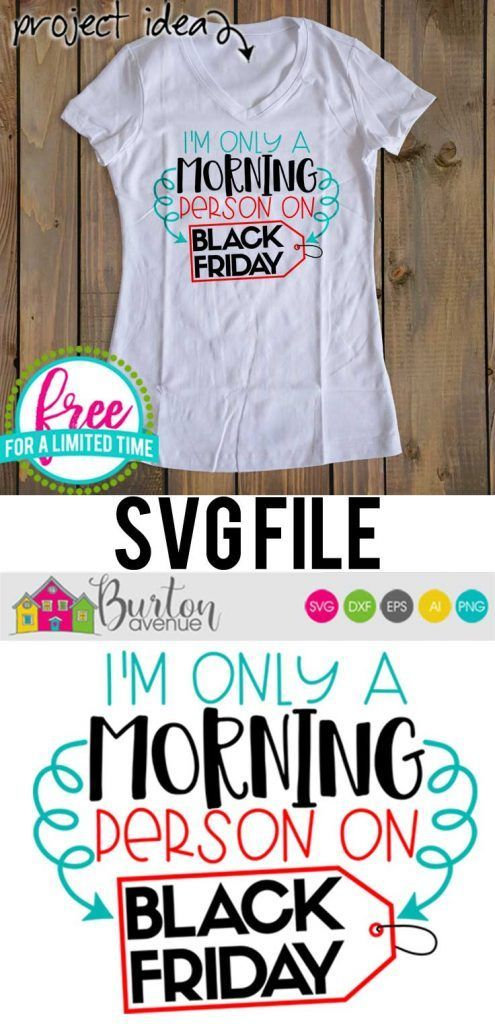 Free SVG Cut File – I'm Only a Morning Person on Black Friday