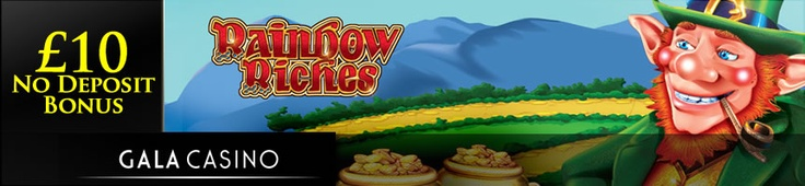 Gala Casino have added the Rainbow Riches slot game to their offering – find out about this Irish luck themed classic and how to get an exclusive £10 no deposit bonus: http://www.casinomanual.co.uk/play-classic-rainbow-riches-slot-gala-casino/