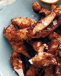 Fish Fry with Ramp Aioli Recipe | Fried Food, Seafood, Sea Bass ...