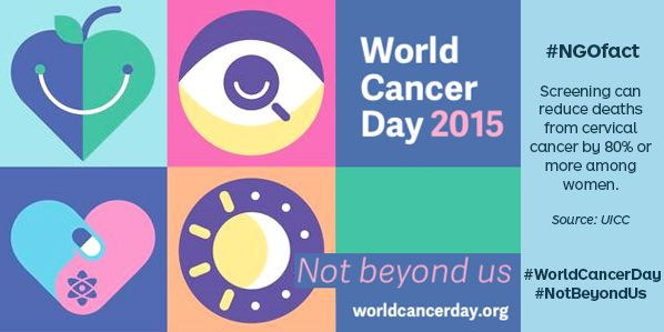 Today is World Cancer Day -help raise awareness and the quality of life of those affected by cancer #WorldCancerDay