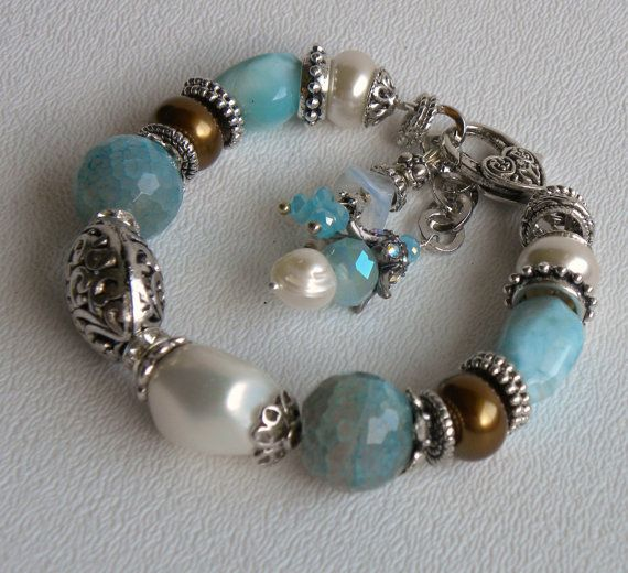 Sanibel Handmade Beaded Bracelet by bdzzledbeadedjewelry on Etsy, $34.00