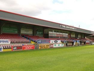 Glyn Hopkin Stadium, Dagenham & Redbridge FC. Capacity: 6,078