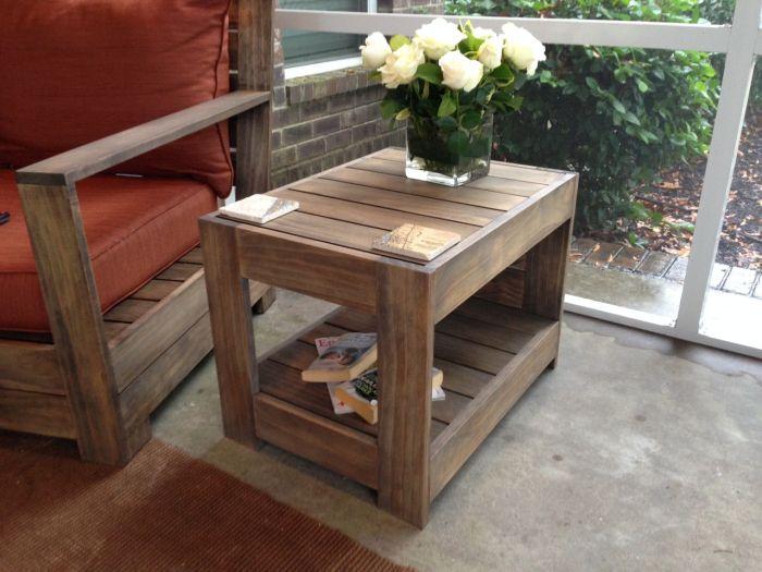 Belvedere Outdoor End Table PlansBest 10  Outdoor end tables ideas on Pinterest   Pallet table  . Diy Patio Furniture Plans. Home Design Ideas
