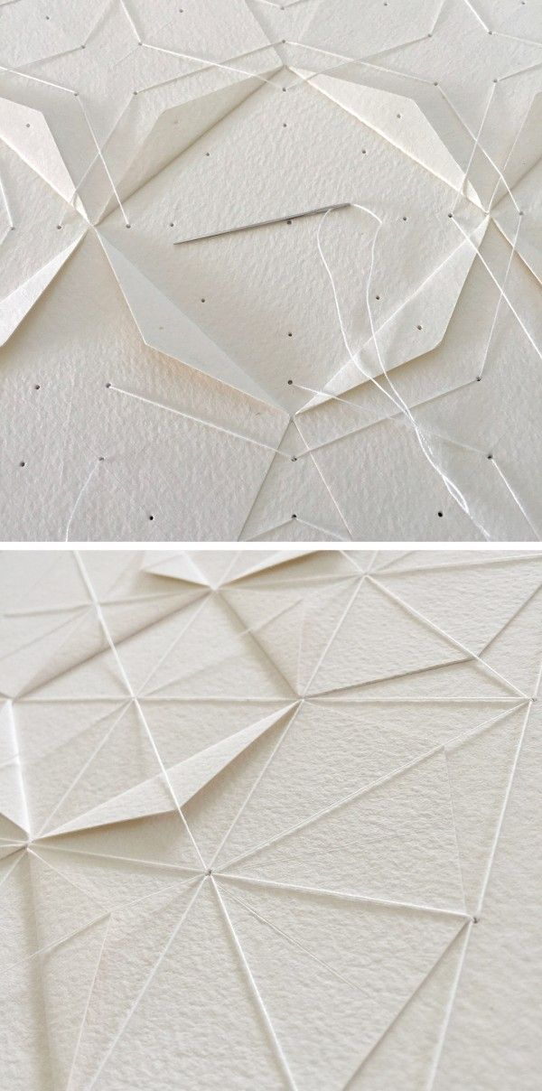Textile paper artworks by Liz Sofield --- seen on: We Are Scout | HUNTING. GATHERING. MAKING. THE GOOD STUFF.