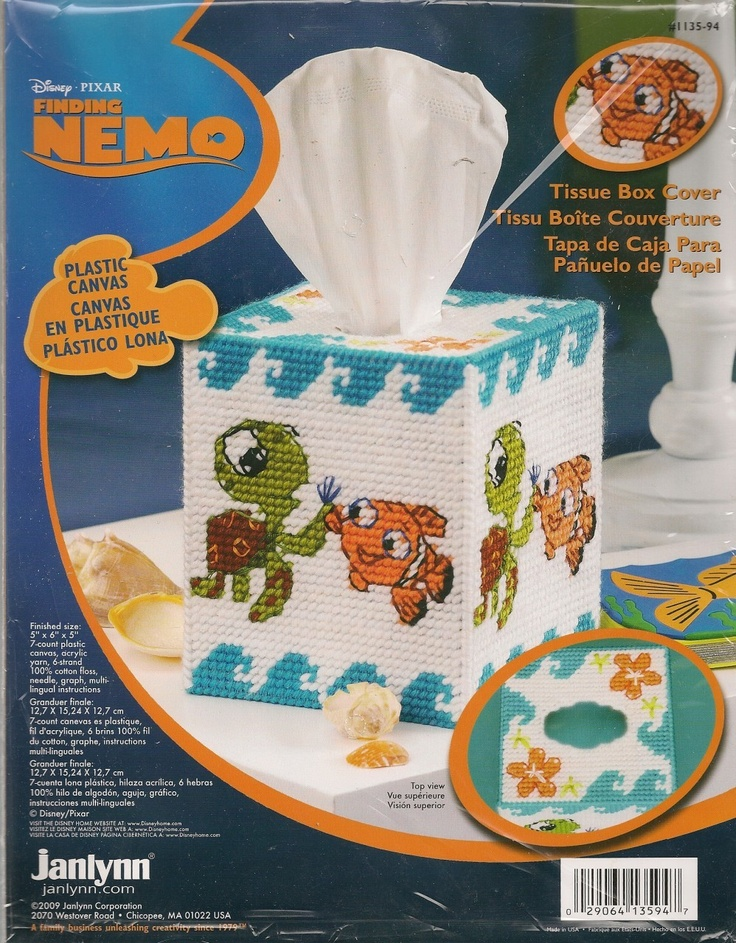 Plastic Canvas Tissue Box Patterns | Finding Nemo Plastic Canvas Tissue Box Cover Kit available at ...