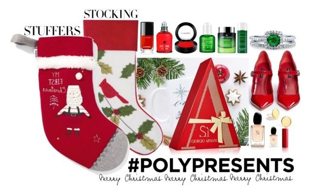 #PolyPresents: Stocking Stuffers by igiulia on Polyvore featuring Dolce&Gabbana, BERRICLE, J.Crew, MAC Cosmetics, My Skin Mentor Dr. G, Sunday Riley, Giorgio Armani, Chanel, C & F and contestentry