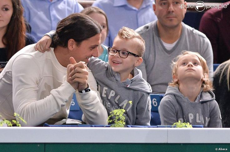So cute with his super blond little boys!