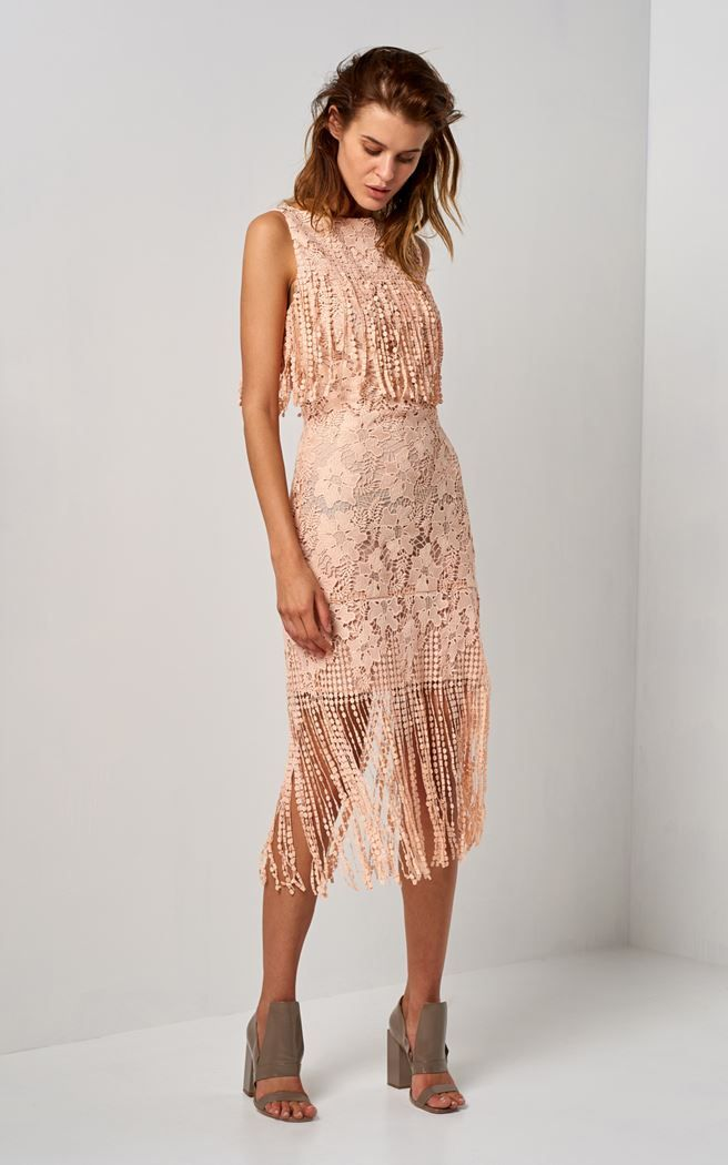 lace fringe dress 000377-peachpink   1