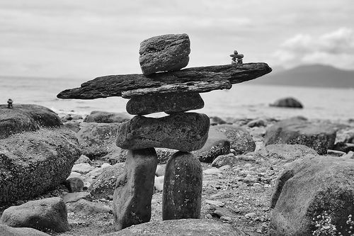 how to build an inukshuk