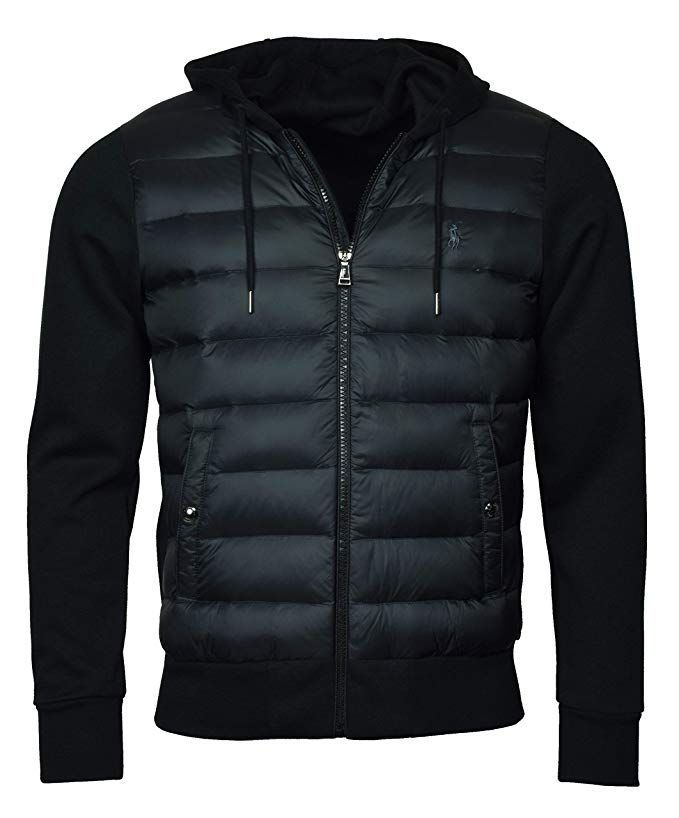 e92c62ce Polo #Ralph Lauren Men's #Hooded Down Double Knit Quilted #Jacket ...