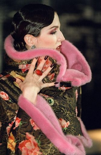 -Christian Dior by John Galliano Fashion show details.