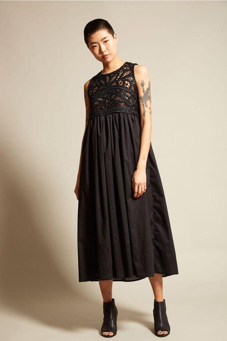 Dress for Women, Evening Cocktail Party On Sale, Black, Cotton, 2017, 6 JC de Castelbaljac