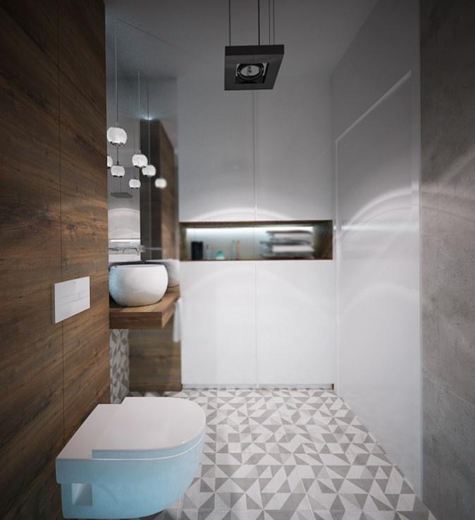 aranżacja małej łazienki w Krakowie