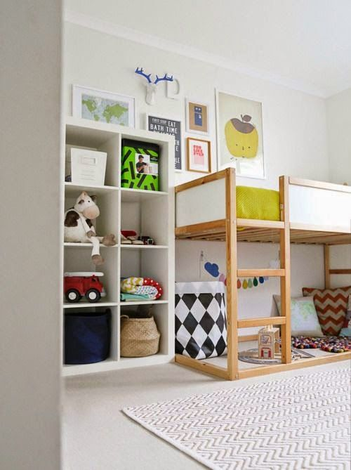 the boo and the boy: ikea's kura reversible bed #kidsrooms #wallart
