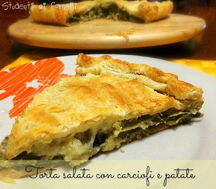 La torta salata con carciofi e patate è una gustosa ricetta perfetta per chi ama i carciofi, soprattutto in questo periodo che sono ancora di stagione...
