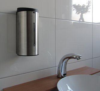 Sensor Seifenspender Edelstahl mit automatischer Auslösung -Komplettpaket incl. Batterien Infrarot / automatic soap dispenser /: Amazon.de: Küche & Haushalt